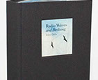 Radio Waves and Birdsong by Ellen Golla. Handbound book with layered transparencies and paper.